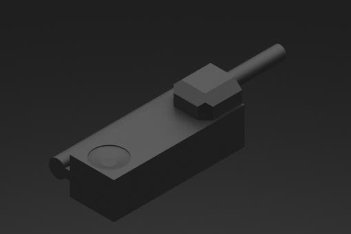 Magnetischer Sensor mit Zugstangenbefestigung, Baureihe SM, Reed N.C. 2 Drähte, keine LED, 0/110 Vac/dc, 1 A, PVC-Rundkabel 2x0,25mm², 2,5 Meter - SM1F425-G