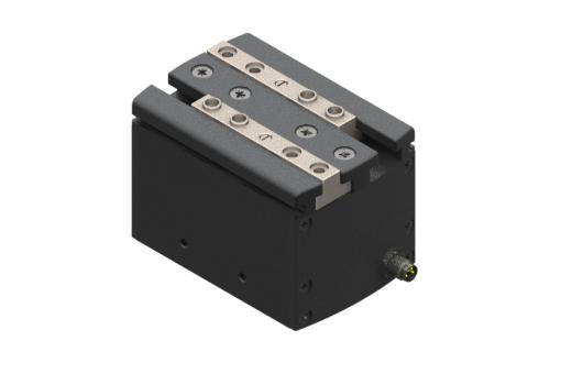Selbstzentrierender elektrischer Parallelgreifer, 24Vdc, 23 W, IOL, M8 4-polig, Spitze 3,8A, DC-Servomotor mit integrierter Steuerung, Max. 0,70 Hz bei 30°C, IP54, mit Buchsen - MPLM3240IOL