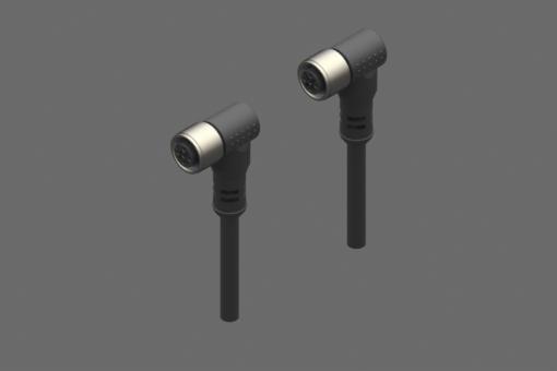 Doppelter M8-Steckverbinder, weiblich, abgewinkelt, 8polig-3-polig, PUR-Kabel, 0,1 m - CFGM8908CF8903010