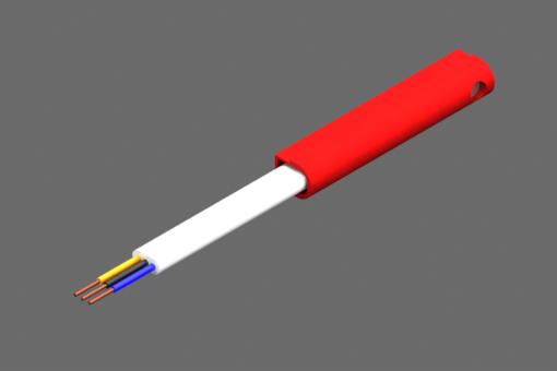 """Magnetischer Sensor für """"C""""-Nut, Baureihe SSQ, NPN-Digitalausgang, Empfindlichkeit 15G, extrem niedrige Hysterese, 24Vds-Versorgung, 0,2A, PVC-Flachkabel 3x0,14mm², 2,5m - SSQ4M225-G"""