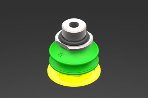 Изображение Присоска VG.GX20P, полиуретан, твердость 30/60 по Шору, G1/8″ нар. резьба / M5 внутр. резьба, с клапаном-регулятором расхода - 2010007