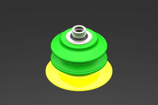 Изображение Присоска VG.GX75P, полиуретан, твердость 30/60 по Шору, с фильтром, G3/8″ нар. резьба - 7510038