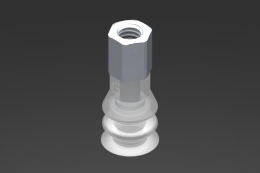 Image sur Ventouse VG.LB11 Silicone FDA 50 Shore, M5 femelle, hexagone 8 mm - 2321740
