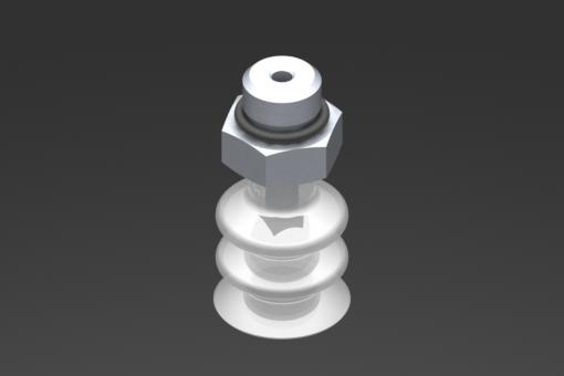 Изображение Присоска VG.LB16, силикон, соответствующий требованиям FDA, твердость 50 по Шору, G1/8″ нар. резьба, шестигранник 13 мм - 2321749