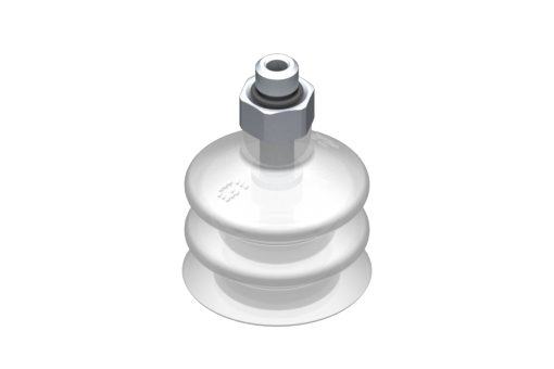 Picture of VG.LB22 suction cup, FDA-compliant silicone, 50 Shore, M5 male, 8 mm hex - 2321752