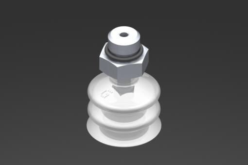 Изображение Присоска VG.LB22, силикон, соответствующий требованиям FDA, твердость 50 по Шору, G1/8″ нар. резьба, шестигранник 13 мм - 2321754