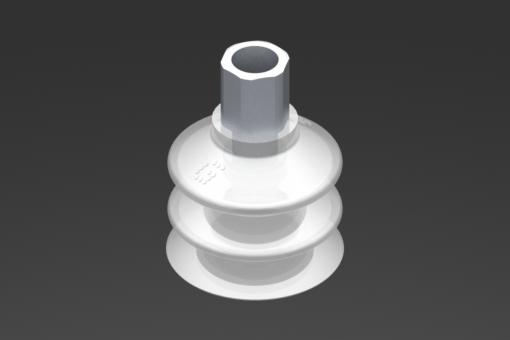 Picture of VG.LB33 szívókorong, FDA-szabványos szilikon, 50 Shore, G1/8″ anya, 12 mm hatszög - 2321757