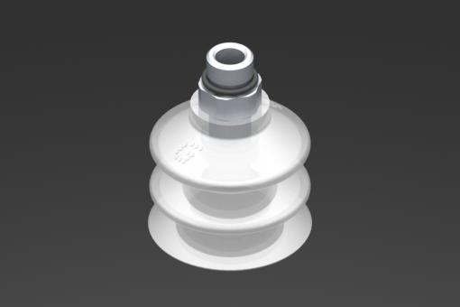 Снимка на Вакуумна вендуза VG.LB33, от съвместим с FDA силикон, с твърдост 50 единици по Шор, с външна резба G1/8″, шестостен 12 мм - 2321759