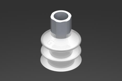 Image sur Ventouse VG.LB33 Silicone FDA 50 Shore, G1/4″ femelle, hexagone 16 mm - 2321762