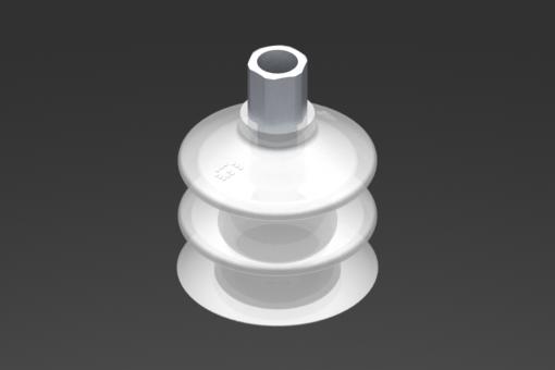 Bild von Saugnapf VG.LB42 FDA-Silikon 50 Shore, G1/8″ Weiblich, Sechskant 12 mm - 2321764