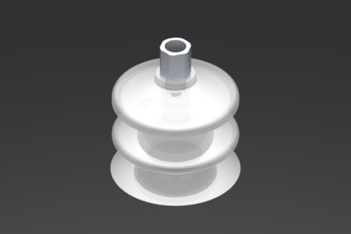 Изображение Присоска VG.LB53, силикон, соответствующий требованиям FDA, твердость 50 по Шору, G1/8″ внутр. резьба, шестигранник 12 мм - 2321771