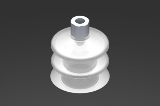 Picture of VG.LB53 szívókorong, FDA-szabványos szilikon, 50 Shore, G1/8″ anya, 16 mm hatszög - 2321774