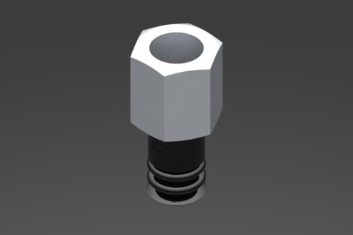 Image sur Ventouse VG.LB9 NBR 50 Shore, G1/8″ femelle, hexagone 13 mm - 2321830