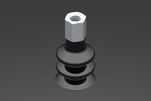 Изображение Присоска VG.LB16, NBR, твердость 50 по Шору, M5, внутр. резьба, шестигранник 8 мм - 2321848