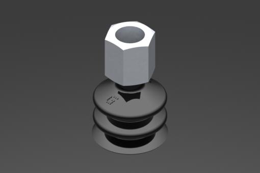 Изображение Присоска VG.LB22, NBR, твердость 50 по Шору, G1/8″ внутр. резьба, шестигранник 13 мм - 2321861