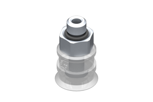 Picture of VG.U11 suction cup, FDA-compliant silicone, 50 Shore, M5 male, 8 mm hex - 2321409