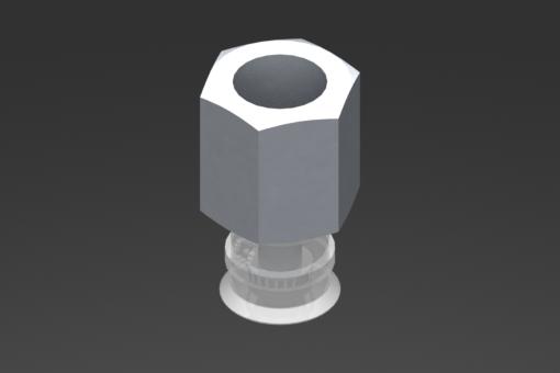 Image sur Ventouse VG.U11 Silicone FDA 50 Shore, G1/8″ femelle, hexagone 13 mm - 2321411