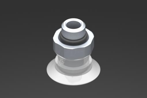 Изображение Присоска VG.U22, силикон, соответствующий требованиям FDA, твердость 50 по Шору, G1/8″ нар. резьба, шестигранник 16 мм - 2321427