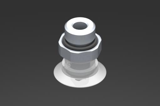 Изображение Присоска VG.U22, силикон, соответствующий требованиям FDA, твердость 50 по Шору, G1/4″ нар. резьба, шестигранник 17 мм - 2321431