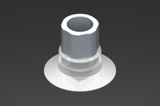 Изображение Присоска VG.U33, силикон, соответствующий требованиям FDA, твердость 50 по Шору, G1/4″ внутр. резьба, шестигранник 16 мм - 2321438