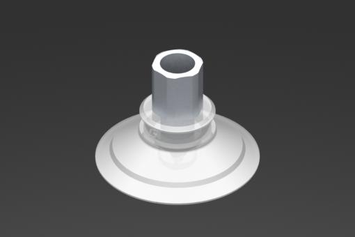 Изображение Присоска VG.U42, силикон, соответствующий требованиям FDA, твердость 50 по Шору, G1/8″ внутр. резьба, шестигранник 12 мм - 2321440
