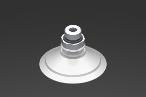 Изображение Присоска VG.U53, силикон, соответствующий требованиям FDA, твердость 50 по Шору, G1/4″ нар. резьба, шестигранник 17 мм - 2321453
