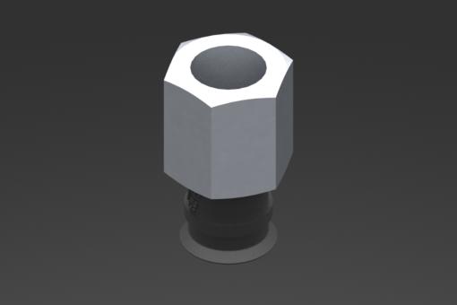 Изображение Присоска VG.U11, EPDM, твердость 50 по Шору, G1/8″ внутр. резьба, шестигранник 13 мм - 2321465