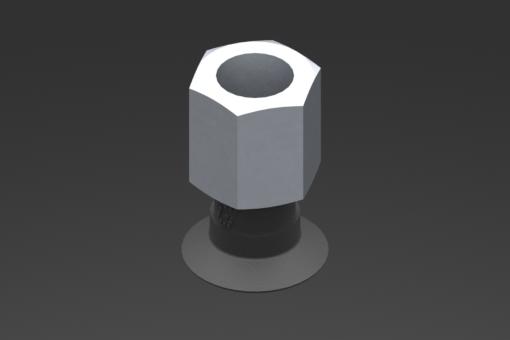Image sur Ventouse VG.U16 EPDM 50 Shore, G1/8″ femelle, hexagone 13 mm - 2321475