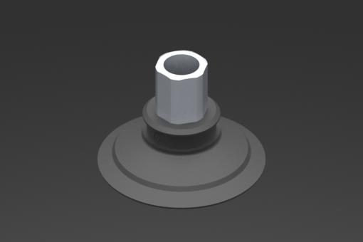 Изображение Присоска VG.U42, EPDM, твердость 50 по Шору, G1/8″ внутр. резьба, шестигранник 12 мм - 2321510