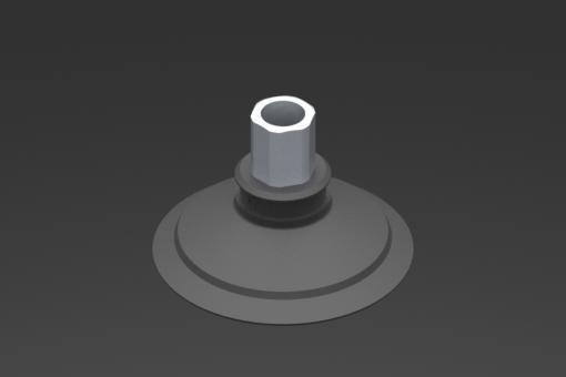 Picture of VG.U53 szívókorong, EPDM, 50 Shore, G1/8″ anya, 12 mm hatszög - 2321524
