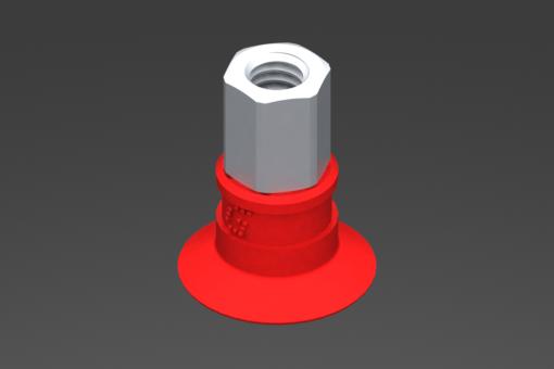 Изображение Присоска VG.U16 силиконовая, твердость 50 по Шору, M5, внутр. резьба, шестигранник 8 мм - 2321662