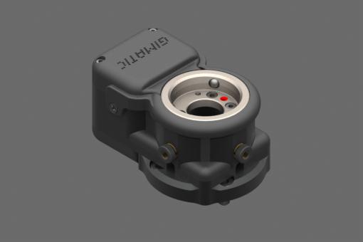 Изображение Электр. быстросъемное устр-во, 24 В пост. т., сторона робота, нагр. 5 кг, IP40, прям. соед. M8, нар. резьба, 8 конт., упр. PNP, 2 цифр. вых. PNP, 3 пневмосоед. для трубок Ø 4. Центрир. штифты в компл. - EQC05-A