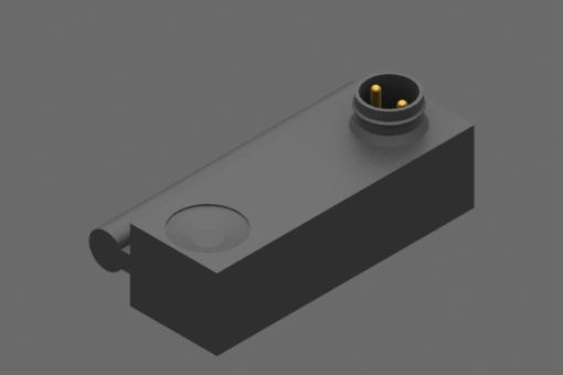 Magnetischer Sensor mit Zugstangenbefestigung, Baureihe SM, Reed N.C. 2 Drähte mit VDR, keine LED, 0/110 Vac/dc, 1 A, Snap Steckverbinder M8, 2-polig - SM2G4-G