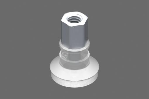 Image sur Ventouse VG.U16 Silicone FDA 50 Shore, M5 femelle, hexagone 8 mm avec anneau en silicone expansé - 0321415