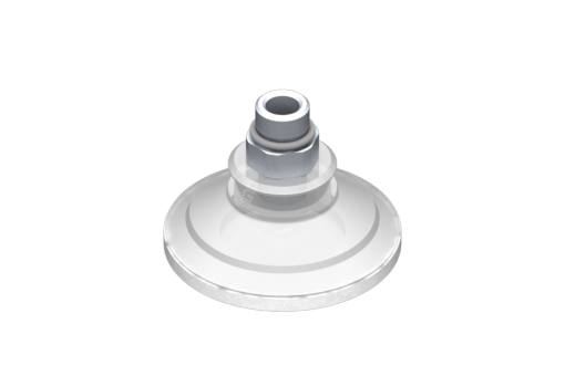 Picture of VG.U42 suction cup, FDA-compliant silicone, 50 Shore, G1/8″ male, 12 mm hex with silicone foam ring - 0321442