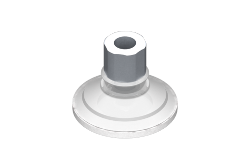 Picture of VG.U42 suction cup, FDA-compliant silicone, 50 Shore, G1/8″ female, 16 mm hex with silicone foam ring - 0321443