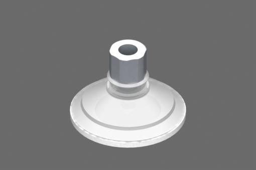 Imagen de Ventosa VG.U53 Silicona FDA 50 Shore, G1/8″ Hembra, Hexágono 16 mm con anillo de espuma de silicona - 0321450