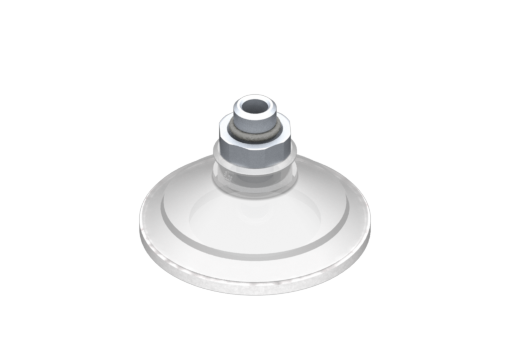 Picture of VG.U53 suction cup, FDA-compliant silicone, 50 Shore, G1/8″ male, 16 mm hex with silicone foam ring - 0321451