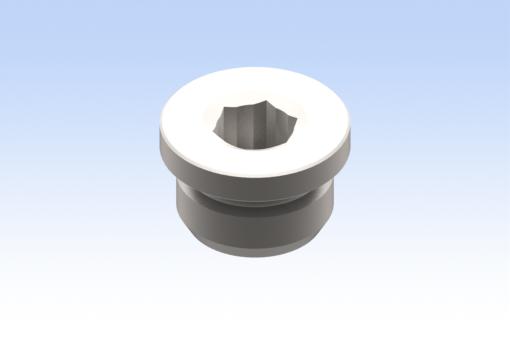 Изображение Заглушка, с наружной резьбой G3/8, цилиндрическая, с цилиндрической головкой с шестигранным углублением (10 шт.) - RG.0301500003