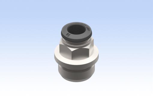 Изображение Цилиндрический прямой адаптер с наружной резьбой, диаметр трубки 8 мм, G3/8 (10 шт.) - RG.5002000N07