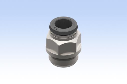 Снимка на Прав успореден адаптер, тип мъжки, диаметър на тръба 12 мм, G1/2 (10 броя) - RG.5002000N23