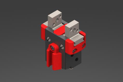Bild von Selbstzentrierender, pneumatischer Parallelgreifer, 2/8 bar, M3/M2,5, mit Buchsen - SGP-16S