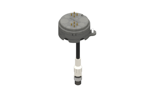 Obrázek z Elektrický modul pro EQC20 pro robota UR, 1 8pinová rovná zástrčka, strana B, 8 samočisticích pružinových kontaktů. - RMBQC-UR