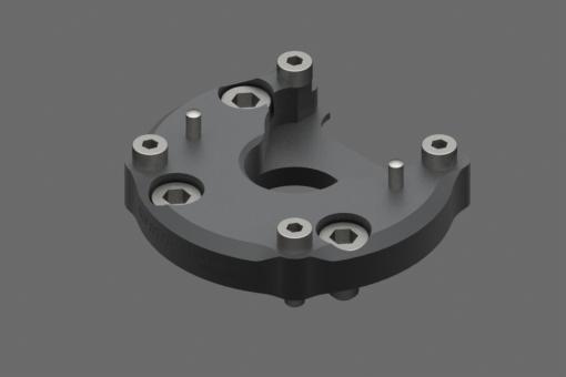 Obrázek z Upevňovací příruba EQC05-A pro roboty s rozhraním ISO 9409-1-50-4-M6. Šrouby, objímky a středicí čepy v balení. - EQC05-K50