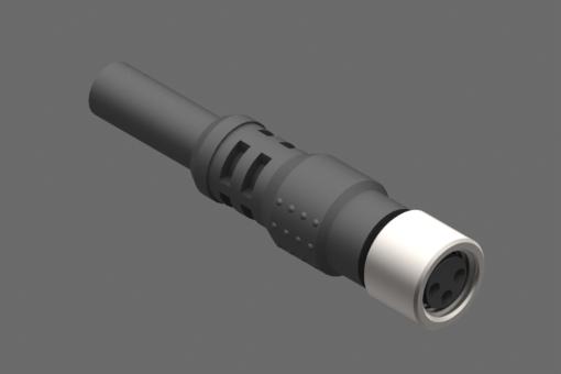 Снимка на Аксиален женски конектор с блокираща гайка M8, 3-щифтов, объл PUR кабел, дължина 2,5 метра - 3030148