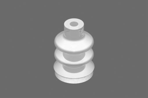 Přísavka VG.LB16, silikon odpovídající FDA, 50 Shore, M5 vnější závit, 8mm šestihr. s kroužkem ze silikonové pěny odpovídající FDA - 0221746