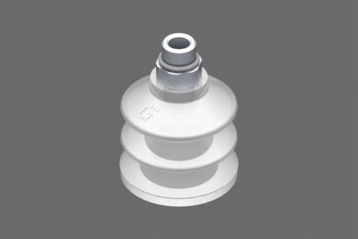 "VG.LB33 vakuumska usisna čašica, FDA kompatibilan silikon, 50 Shore, G1/8"" muški, 12 mm šestougaonik sa prstenom od FDA kompatibilne silikonske pene - 0221759"