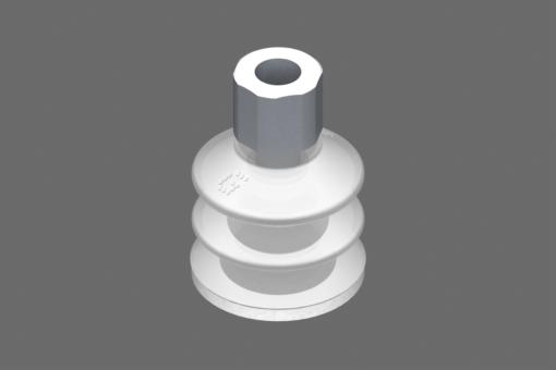 """""""Ventosa VG.LB33 Silicone FDA 50 Shore, G1/8"""""""" Femmina, Esagono 16 mm con anello in Silicone FDA espanso """" - 0221760"""