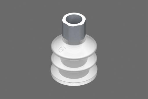 """""""Ventosa VG.LB33 Silicone FDA 50 Shore, G1/4"""""""" Maschio, Esagono 17 mm con anello in Silicone FDA espanso """" - 0221762"""