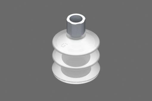 "VG.LB42 vakuumska usisna čašica, FDA kompatibilan silikon, 50 Shore, G1/4"" ženski, 16 mm šestougaonik sa prstenom od FDA kompatibilne silikonske pene - 0221769"